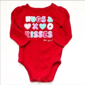 Other - girls 12 month valentine red onsie